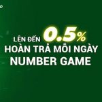 Hoàn trả 0.5% Number Game hằng ngày không có giới hạn