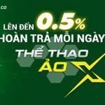 HOÀN TRẢ KHÔNG GIỚI HẠN MỖI NGÀY 0.5% TẠI THỂ THAO ẢO X